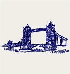Tower Bridge vector image