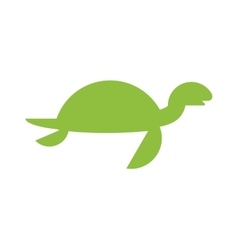 A cute cartoon turtle vector