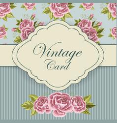 Beautiful vintage card vector