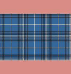 Blue check plaid tartan seamless pattern vector