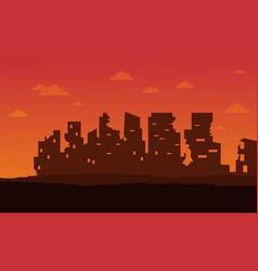 Broken city for bad environment landscape vector
