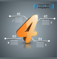 Business infographic number icon vector