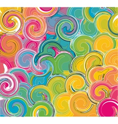 Colorful ebru background vector image vector image