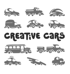 Creative cars design elements vector image