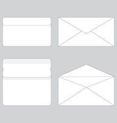 Envelope paper for letter open and close vector image
