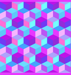 geometric colorful cube background vector image
