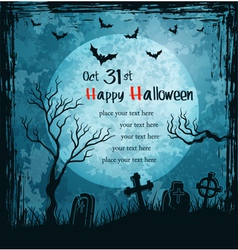 Grungy halloween background vector image vector image