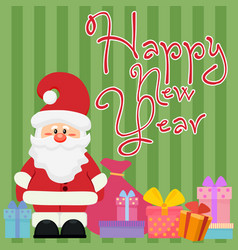 happy new year greeting and vector image vector image