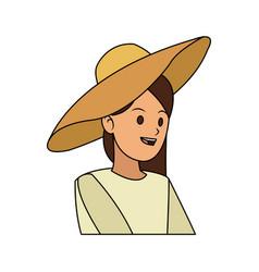 happy pretty woman icon image vector image vector image