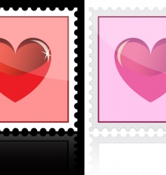 heart stamp vector image vector image