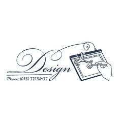 icon for the designer artist vector image