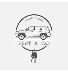 Old american car rental vector