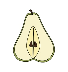 pear fruit icon vector image vector image