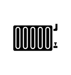 Radiator steel panel icon vector