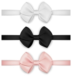 realistic bow set Template for design vector image