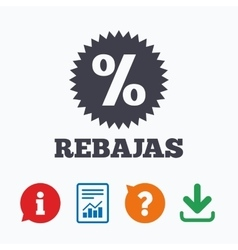 Rebajas - Discounts in Spain sign icon Star vector image vector image