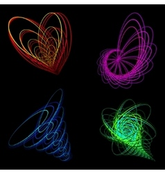 Schematic picture of the heart of a flower and a vector