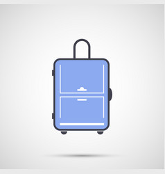 simple design icon travel bag vector image vector image