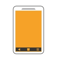 smartphone phone mobile flat icon vector image vector image