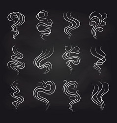 smoke smell icons on blackboard vector image vector image