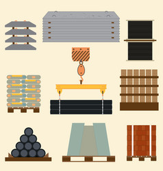 storage of construction material vector image