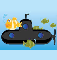 Submarine of the black colour vector