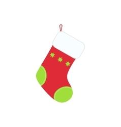 Traditional christmas stocking for holiday gifts vector
