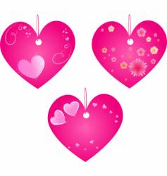 Valentine's Day hearts vector image