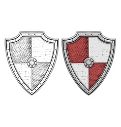 viking shields hand drawn sketch isolated on vector image vector image