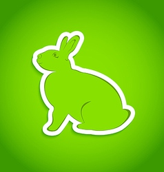 Easter greeting rabbit isolated vector