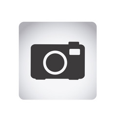 gray emblem camera icon vector image