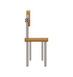 School student chair used in the classroom vector