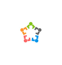 Community network and social icon setlogo icon vector