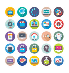 Seo and digital marketing icons 12 vector