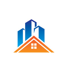 Home skyscraper building logo vector