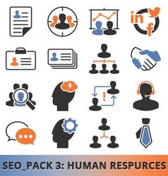 Seo human resources vector