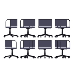 Office spinning chair vector