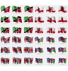 Saint kitts and nevis gibraltar swaziland namibia vector