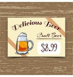 Price tag design craft beer vector
