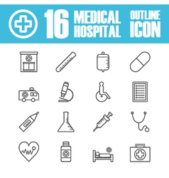 262hospital outline icon vector