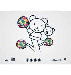 Colourful bear vector