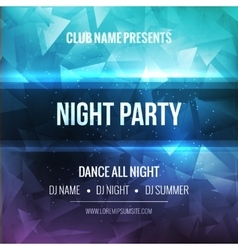 Night dance party poster background template vector