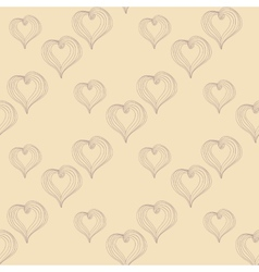 Abstract Hearts on a beige background vector image