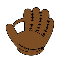 Baseball glove design vector