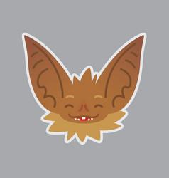 bat emotional head happy emoji smiley icon vector image vector image