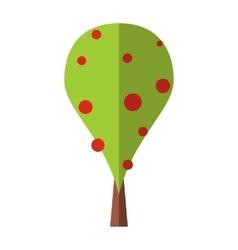 Best tree flat symbol vector image vector image