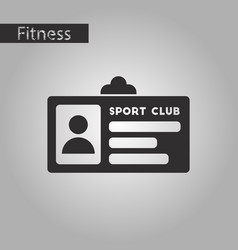 Black and white style icon personal card sports vector