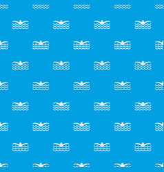 Butterfly swimmer pattern seamless blue vector