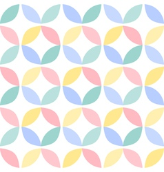 Colorful geometric circle seamless pattern vector