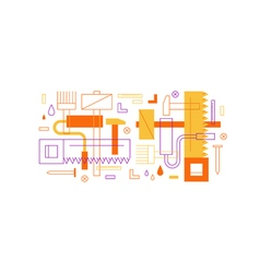 Construction instruments pattern and backdrop vector image vector image